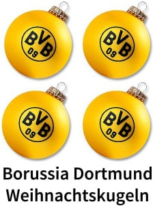 borussia dortmund weihnachtskugeln christbaumkugeln. Black Bedroom Furniture Sets. Home Design Ideas