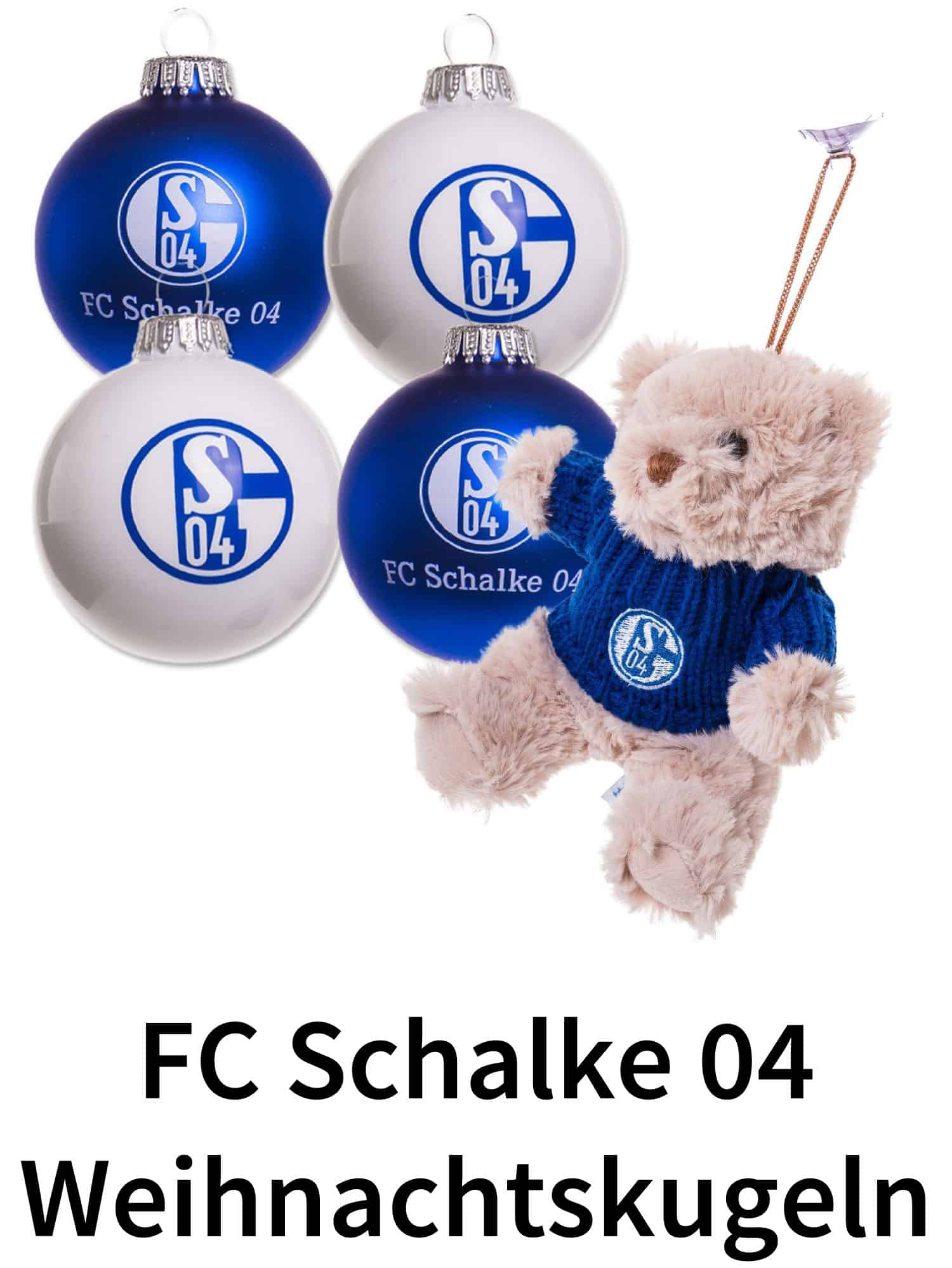 Fc schalke 04 weihnachtskugeln fu ball christbaumkugeln - Weihnachtskugeln durchsichtig ...