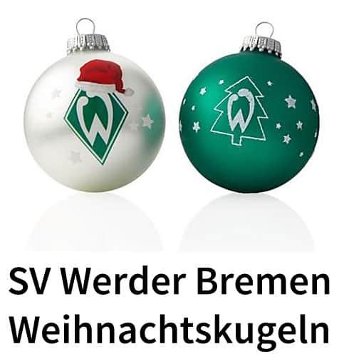Sv werder bremen weihnachtskugeln christbaumkugeln - Weihnachtskugeln cappuccino ...