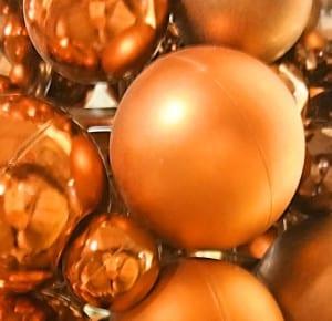 Weihnachtskugeln Kupfer