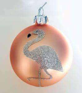 Flamingo Weihnachtskugel