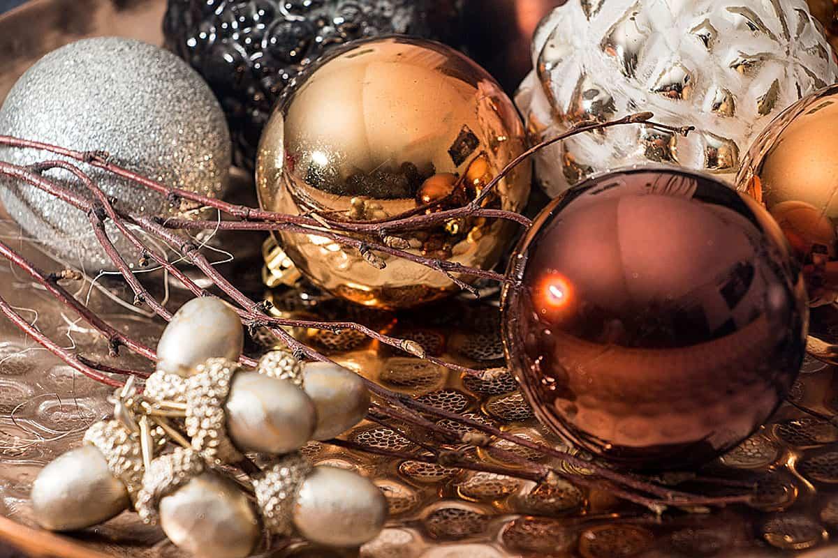 Christbaumkugeln Glas Kupfer.Weihnachtskugeln Kupfer Christbaumkugeln