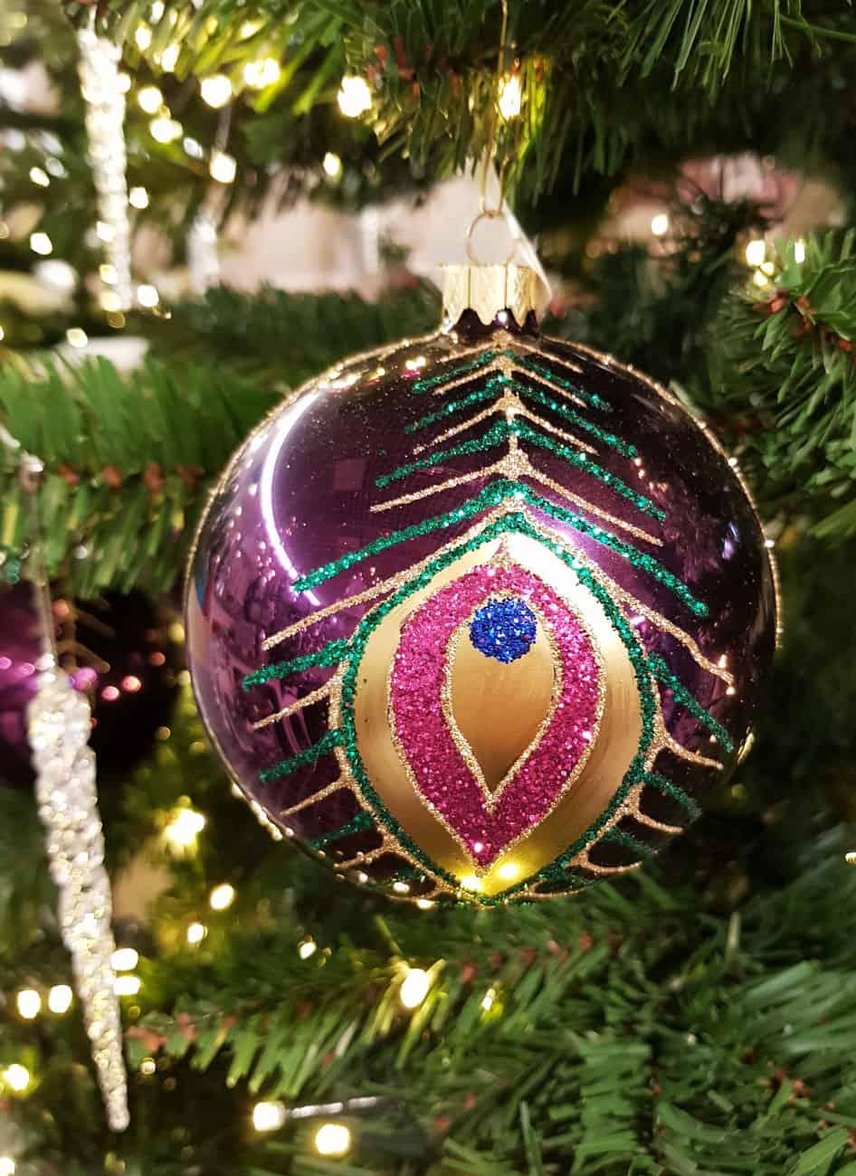 Christbaumkugeln Champagnerfarben.Weihnachtskugeln Lila Geschmackvoller Weihnachtsschmuck