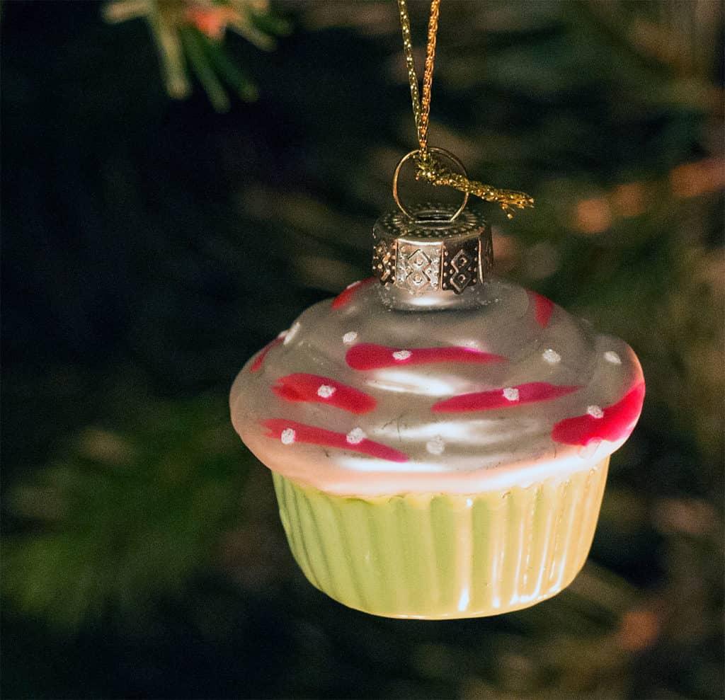 Mini Cupcake als Weihnachtsbaumanhänger