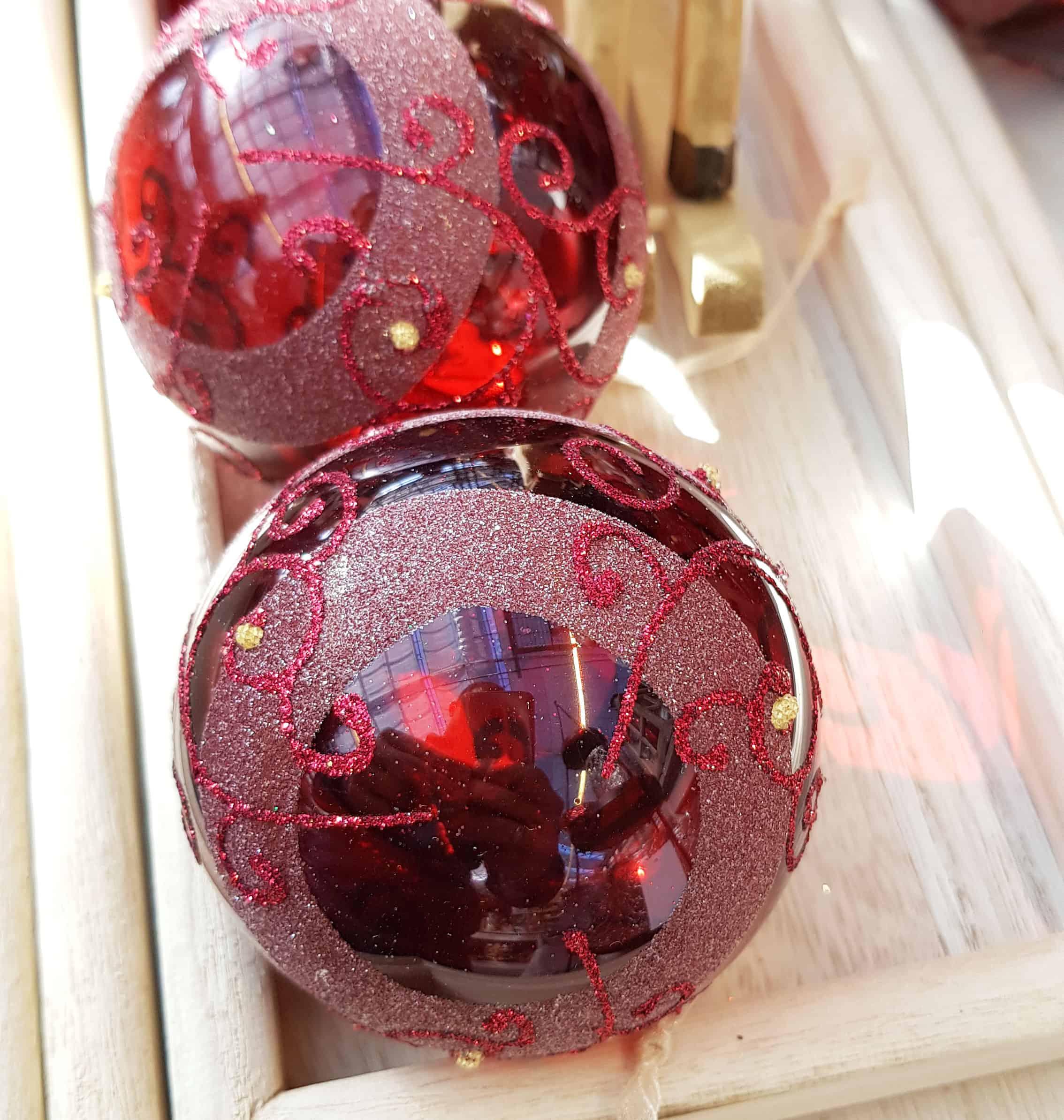 Christbaumkugeln Rot Glänzend.Weihnachtskugeln Rot Christbaumkugeln