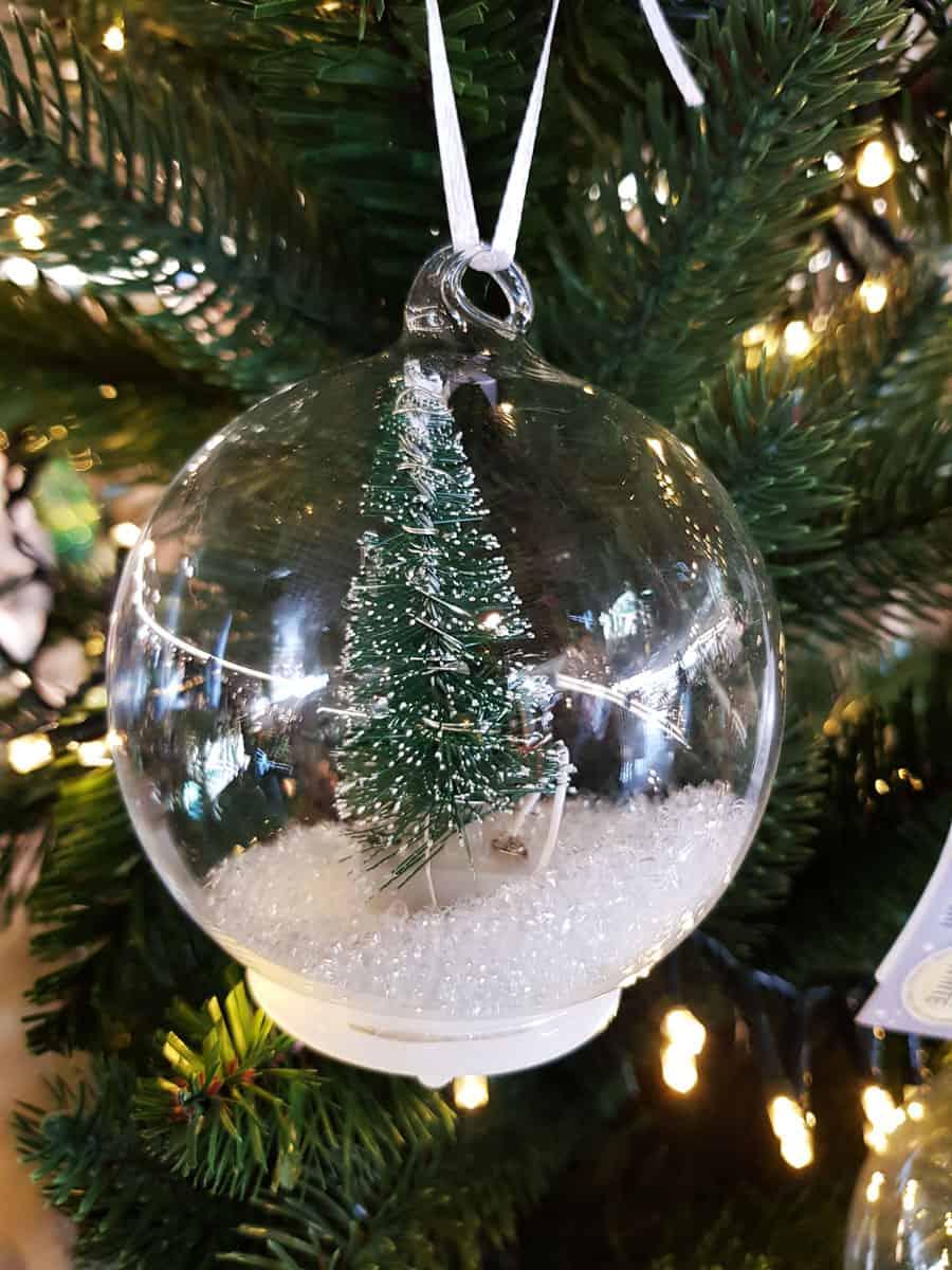 Weihnachtskugel Kunststoff Christbaumkugel Transparent Verzierung Weihnachten