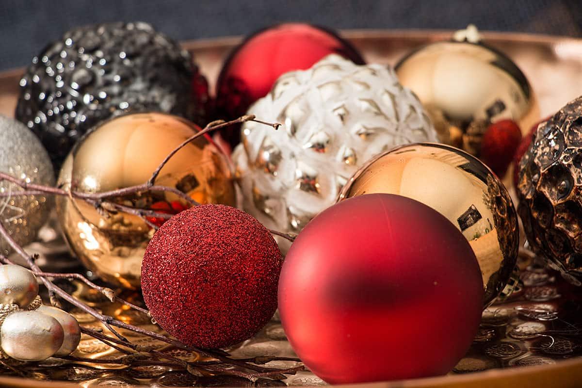 Weihnachtskugeln Rot Gold.Weihnachtskugeln Rot Christbaumkugeln