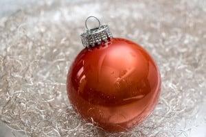 Orange Weihnachtskugel