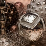 Weihnachtskugeln Bauernsilber als Dekoration